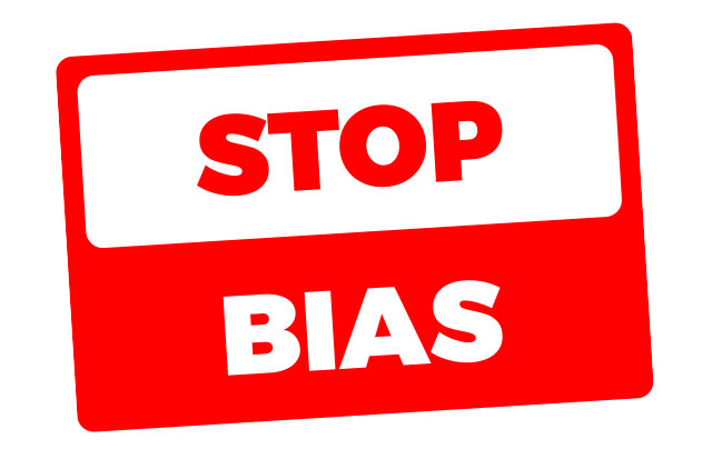 Stop Bias in the workplace sign