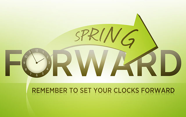 Image reminder to set clocks ahead in the spring